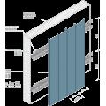 Реечный потолок A90C / А100С оцинков. белый матовый А903