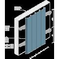 Реечный потолок AF 150C оцинков. белый матовый А903