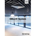 Решетчатая потолочная панель Cellio C64 (75x75x37) - серебристый (Целлио) Разобраный 600x600x37mm BP9002M6JSGKIT