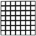 Решетчатая потолочная панель Cellio C64 (75x75x37) - черный (Целлио) В сборе 600x600x37mm BP9002M6JBK