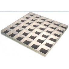 Решетчатая потолочная панель Cellio C25 (120x120x37) - белый (Целлио) В сборе 600x600x37mm BP9005M6J