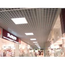 Потолок Грильято 50х50 ( выс.30/шир.10) белый жемчуг HL0101B