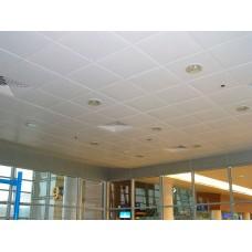 Кассетный потолок AP600 Line белый стальной 9003