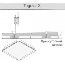 Металлическая панель armstrong ORCAL Plain  600x600x15 Tegular 2